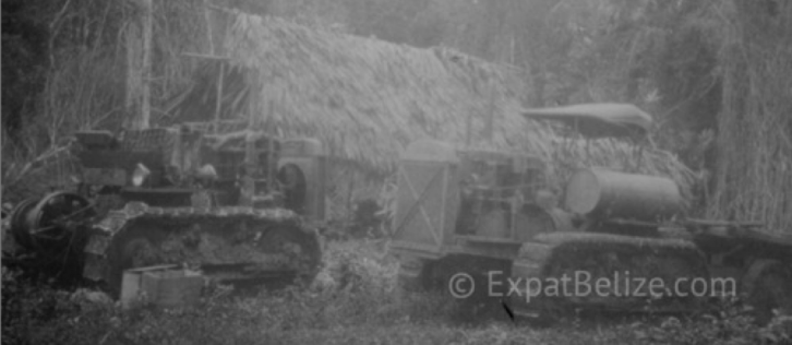 Belize Old Tractors from long ago