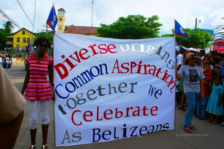 Belize Independence Parade Diversity in Belize Banner