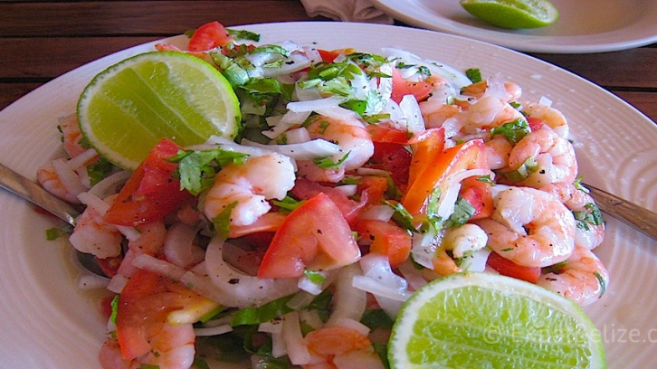 Shrimp Ceviche in Belize