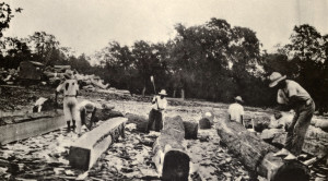 Squaring Mahogany in Belize 1936