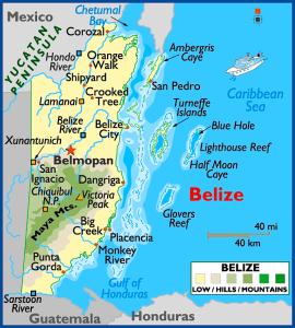Belize Map Elevation