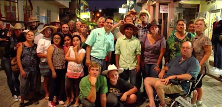 Belize Expats Flash Mob Group Picture