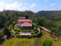 Belize Luxury Estate Property-Aerial View of Home North Side