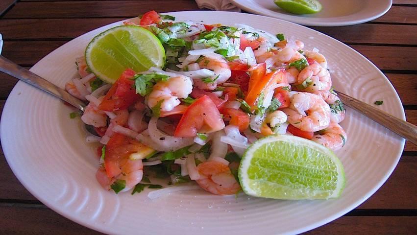 Belize Food Restaurants Recipes Shrimp Ceviche