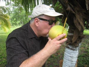 belize real estate 2 arizona expat cooling off with fresh coconut water